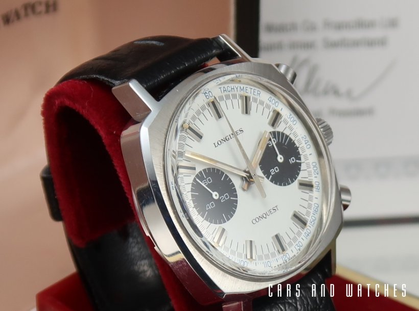 NOS / New Longines 30CH Conquest Panda B&P
