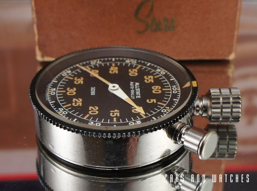 Heuer Sears Allstate Auto Rally Dashboard Timer