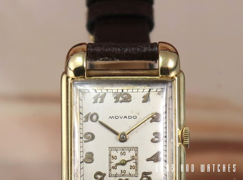 Movado Art Deco Tank with BOX & Papers