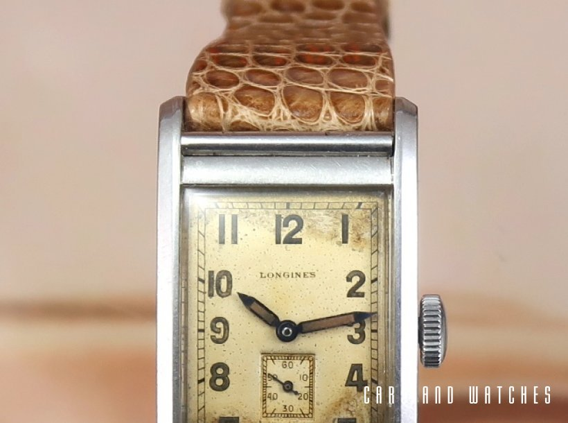Longines Waterproof tank watch Oversize 1943