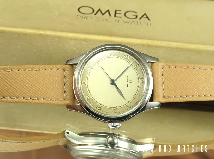 50's Omega Waterproof Center Seconds Radial Dial